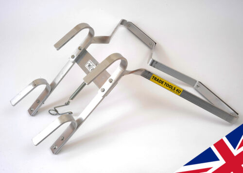 READY ASSEMBLED ALUMINIUM LADDER STAND OFF 'V' SHAPE - NEW -  UK MANUFACTURER!  <br/> SAFE & STRONG - Tested to 150kg - EN131 safety loading