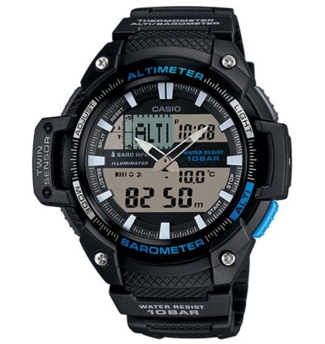 Casio Watch * SGW450H-1A Twin Sensor Black & Blue Resin Men COD PayPal <br/> SPECIAL OFFER! Nationwide COD Free Ship Meet Up PayPal