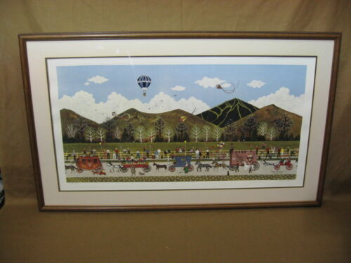 """Jane Wooster Scott 'Wagon Days Parade' Signed #156 Limited Edition 41"""" X 25"""""""
