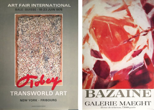 Art Fair International & Bazaine Exhibit poster