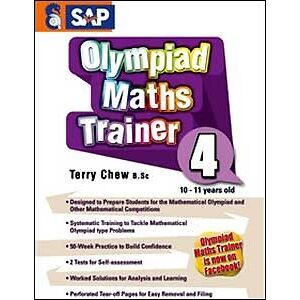 MATHS OLYMPIAD TRAINER Workbook Year 4 Kids Maths Singapore series FREE Shipping