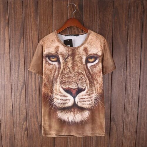 Lion Face All Over T-Shirt [V1 animal graffiti dope fresh funny cool unique]