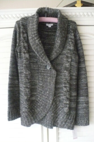 Liz Lange Sweater GrayGray Cable with Metallic Silver Sparkle NICE!!