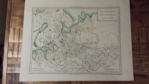 VERY NICE, ANTIQUE Hand Colored map of Russia North. Part - P. Tardieu, c.1790