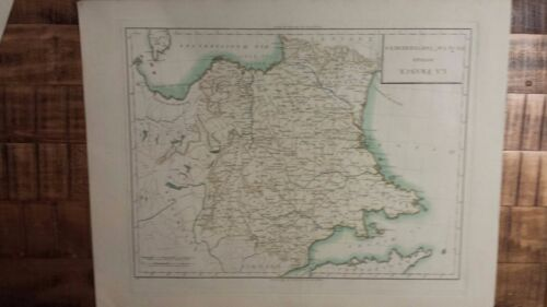 VERY NICE, ANTIQUE Hand Colored map of  the France -  P. Tardieu, c.1790
