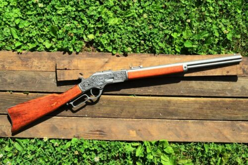 Winchester M1873 Engraved Lever Action Rifle - 1873 - Wild West - Denix ReplicaReproductions - 156384