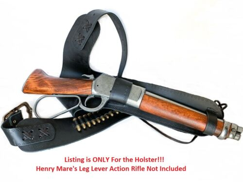 Henry 1892 Mare's Leg Lever Action Rifle Leather Holster - Mares - Denix ReplicaReproductions - 156384