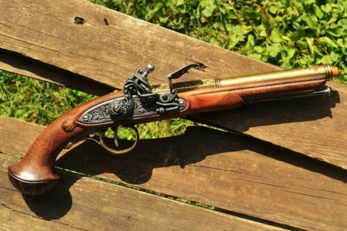 18th Century Flintlock Pistol - Revolutionary War - Pirate - Brass Denix ReplicaReenactment & Reproductions - 156378