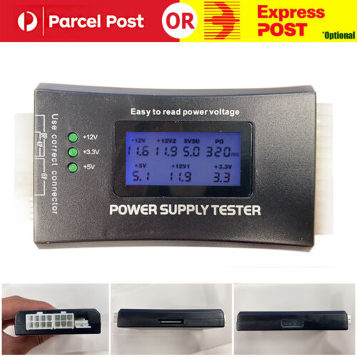 For PC Computer ATX SATA LCD 20/24 Pin Digital Power Supply Diagnostic Tester