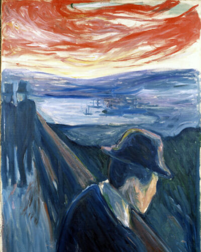 Despair: Prelude To The Scream Munch Painting 8x10 Real Canvas Giclee Art Print