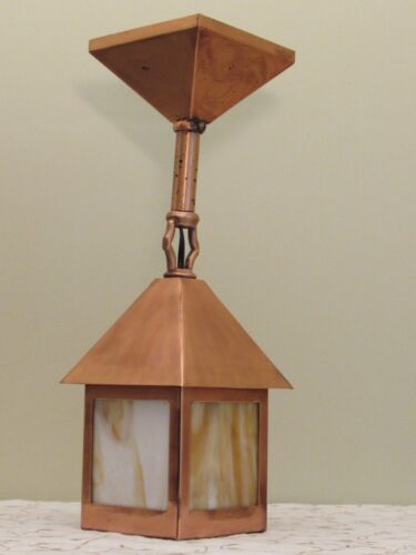 AWESOME Antique Porch Foyer Light Fixture - COMPLETELY RESTORED!