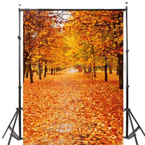 5x7FT Autumn Fall Golden Forest Studio Backdrop Photography Background Prop