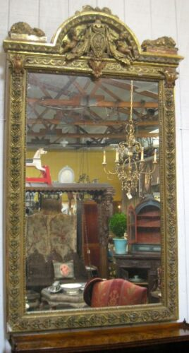 Antique French Gilt Mirror—Grand Scale | Mid 1800s