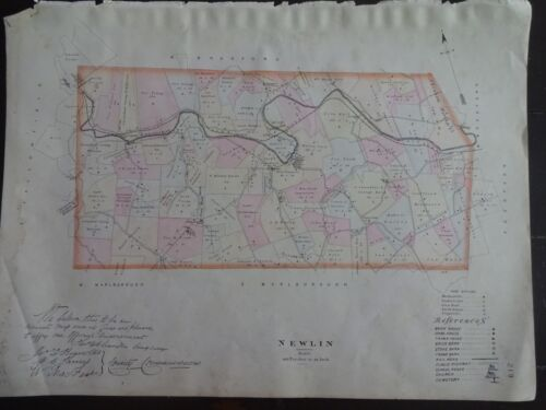 HISTORIC 1883 Map of the Township of Newlin, PA - Property Specific Detail