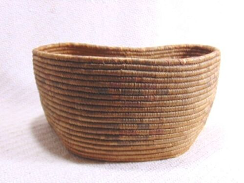 Large Antique Native American Indian Hand Woven  Basket Bowl Apache Pima ?