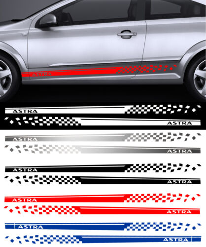 2 X BANDES STRIPE RACING POUR OPEL ASTRA AUTOCOLLANT STICKER BD511