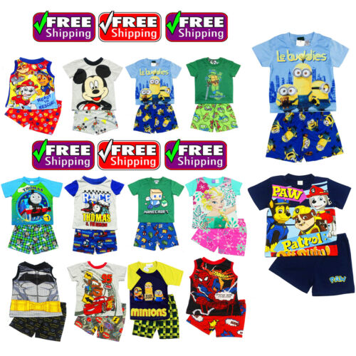 NEW Sz 1~12 BOYS PYJAMAS OCTONAUTS PJ KIDS SUMMER PJS SLEEPWEAR TOP TSHIRT TjaEE