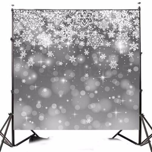 10x10FT Snowflake Vinyl Christmas Photography Background Studio Backdrop Props