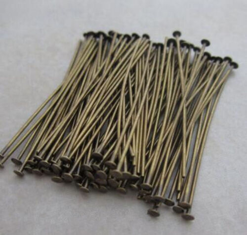 200pcs Antique Brass Pins Rings Chandelier Lamp Crystals Bead Connector Hook DIY