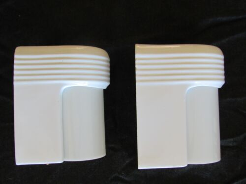 RARE PAIR! of Antique ART DECO Slip Shade Bathroom Sconces - RESTORED!