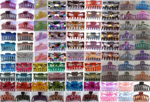 9cm hair claw clamps in many colours and designs