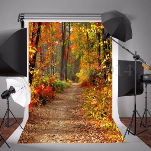 5x7FT Autumn Fall Forest Photography Vinyl Background Studio Photo Backdrops New