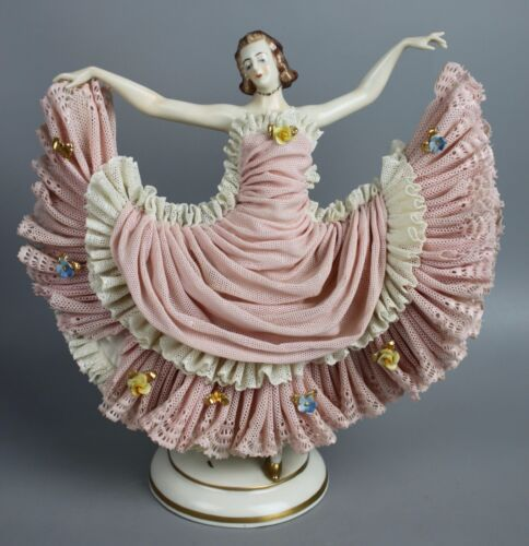 Dresden Volkstedt Ackermann & Fritze figurine Dancing Lady WorldWide