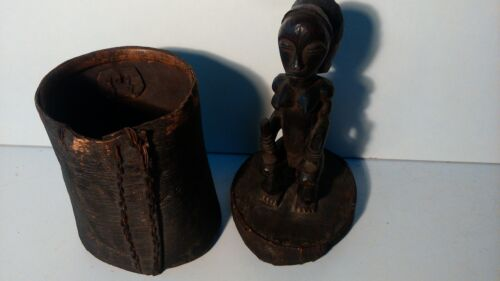 Old african statue. Ancienne statue africaine panier FANG reliquaire TOP+++