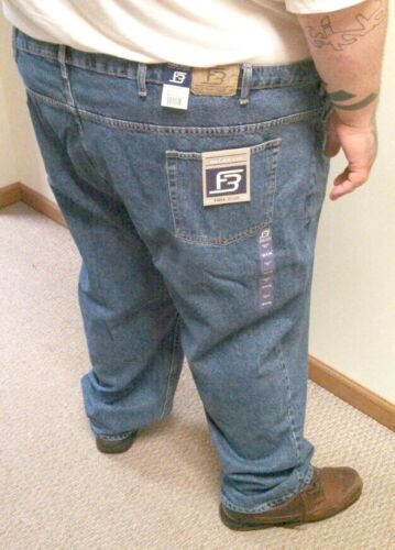 Big & Tall Men's Denim Jeans Black Blue Waist 40 - 72 Relaxed Fit by Full Blue