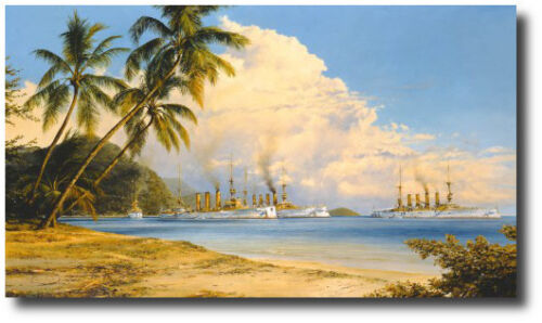 Peaceful Anchorage by Robert Taylor - WWI - German Navy East Asiantic Squadron