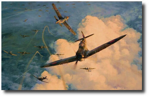 Valiant Response (Anniversary Ed) by Robert Taylor- Spitfire - 3 Signatures