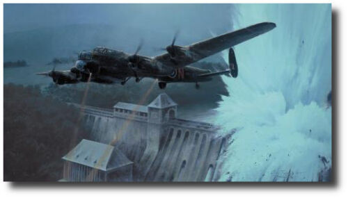 Dambusters - Breaching the Eder Dam by Robert Taylor - WWII - Aviation Art