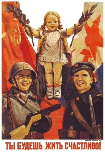 WW2 Russian Soviet Color POSTER Soldier 9 Propaganda Full Color, LQQK & Buy Now!Other Militaria - 135