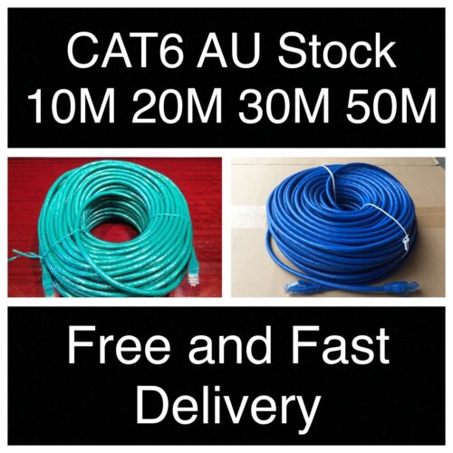 10m 20m 30m 50m Cat6 Ethernet Network Lead LAN Cable 100M/1000Mbps