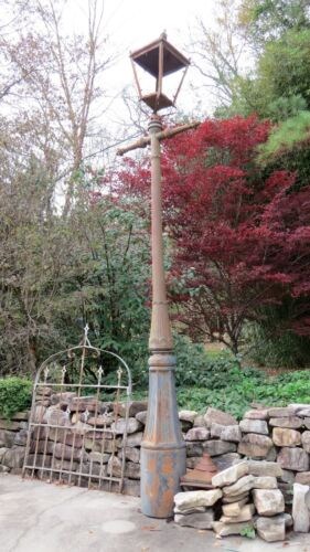 Antique, Victorian Cast Iron, Gas Lamp Post, 13' Tall, British