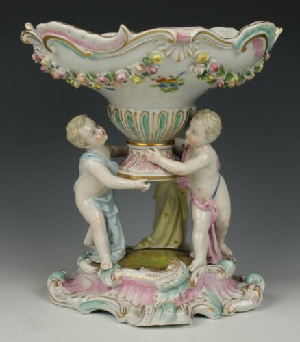 Dresden Volkstedt Compote with Three Cherubs WorldWide