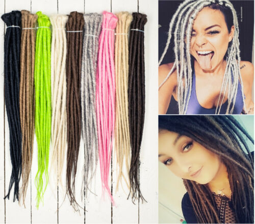 DreadLab - Single Ended Synthetic Dreadlocks (Pack of 10) Backcombed Extensions