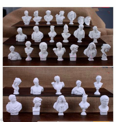 20 Pcs Art Decor Statue Sculpture Human Model figure Greek God mythology