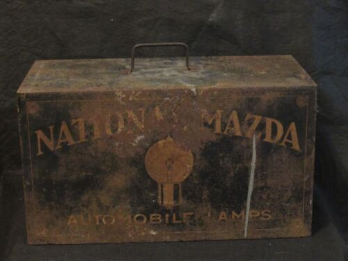 Antique GE National Mazda Advertising Cabinet Display with Working Drawers