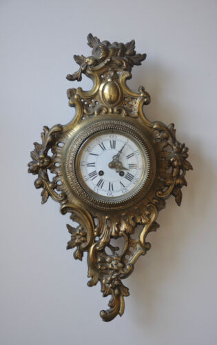 "Antique French Wall Clock -  Movement Is Stamped ""A.D. Mougin Deux Medailles"""
