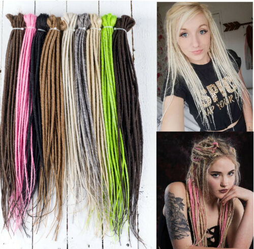 DreadLab - Double Ended Synthetic Dreadlocks (Pack of 10) Backcombed Extensions