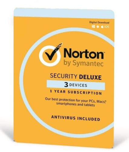 Norton Security Deluxe for Win, Mac & Android - 3 Devices 1 Year (eLicense)
