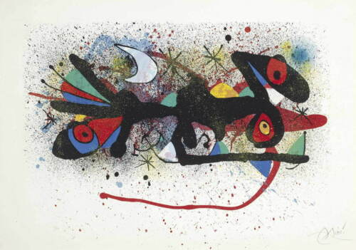 Joan Miro Untitled Giclee Canvas Print Paintings Poster Reproduction Copy