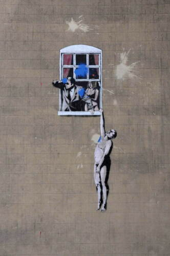Banksy Mural Giclee Canvas Print Paintings Poster Reproduction Copy home decor