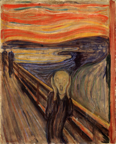 The Scream by Edvard Munch Expressionism Painting Real Canvas Art Print