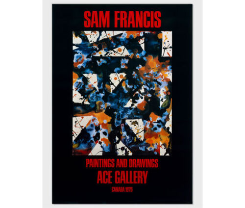 Sam Francis, Paintings and Drawings, 1979, Ace Gallery, Exhibition Poster