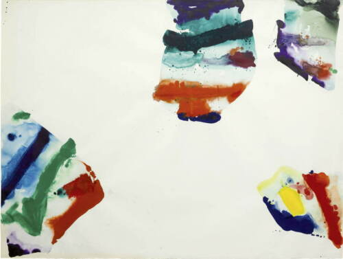 Sam Francis Untitled Poster Reproduction Paintings Giclee Canvas Print