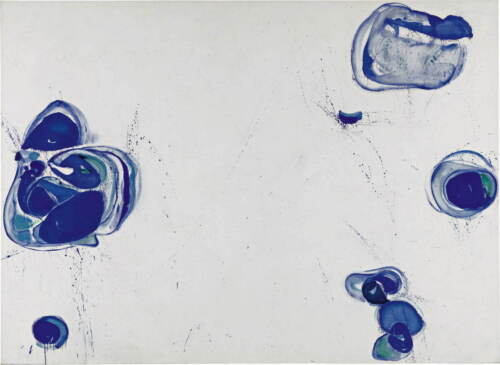 Sam Francis Blue Balls Poster Reproduction Paintings Giclee Canvas Print