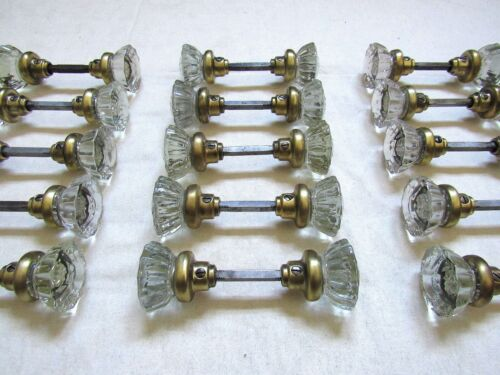 ONE Pair of Refurbished Antique 1928 DEXTER Glass Door Knobs (Many Available)