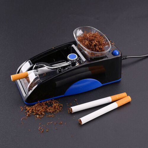 Electric Automatic Cigarette Rolling Machine Tobacco Injector Maker Roller Blue